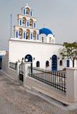 White Greek church Stock Photos