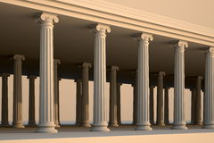 White greek columns. Stock Images