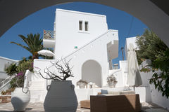 White greek holiday house - Cyclades Royalty Free Stock Photo