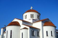 White Greek Orthodox Church Stock Photo
