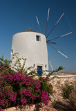 White Greek Windmill Royalty Free Stock Images