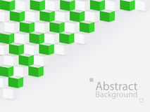 White green abstract background square 3d modern paper. This is white green abstract background square 3d modern paper royalty free illustration