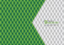 White and Green abstract background vector illustration, cover template layout, business flyer, Leather texture. Luxury can be used in annual report cover Stock Images
