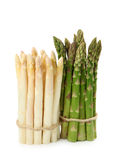 White and green asparagus Royalty Free Stock Photos