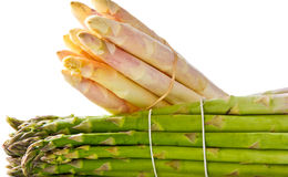 White and green asparagus Royalty Free Stock Image