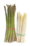 White and green asparagus Stock Images