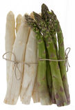 White and green asparagus Royalty Free Stock Photography