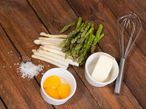White and green asparagus Stock Image