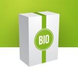 White green bio box Royalty Free Stock Image