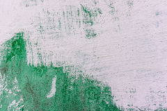 White and green color wall texture. Stock Image