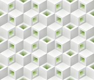 White green cubes isometric seamless pattern. vector illustration
