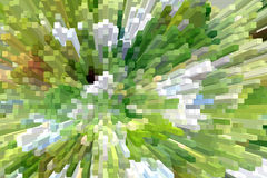 White and green explosion Royalty Free Stock Image