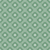 White and Green Fleur-De-Lis Pattern Textured Fabric Background Royalty Free Stock Images