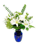 White and green flower arrangement centerpiece Royalty Free Stock Photos