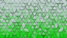 White green gradient triangles extruded 3D render. White green gradient triangles extruded. Abstract geometric background. 3D render illustration Royalty Free Stock Photo