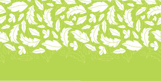 White on green leaves silhouettes horizontal Royalty Free Stock Image