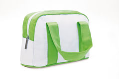 White and green make-up case. Taken on white background Stock Images