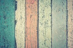 White Green and Orange Wooden Plank Stock Image