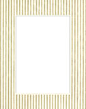 White & green photo frame Royalty Free Stock Image