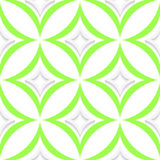 White and green pointy rhombuses seamless Stock Photos