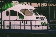 White And Green Train Royalty Free Stock Photos