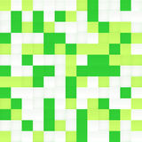 White and green vector mosaic seamless pattern Royalty Free Stock Images