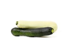 White and green vegetable marrow. Stock Photos