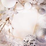 White greeting card Royalty Free Stock Image