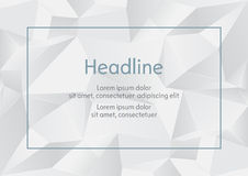 White and grey abstract polygonal wall. Vector illustration vector illustration