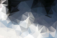 White grey black low poly background Royalty Free Stock Image