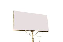 White grey blank billboard Stock Photography