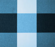 White, Grey and Blue Gingham Tablecloth Royalty Free Stock Image