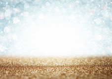 White and grey bokeh lights. defocused background Royalty Free Stock Images