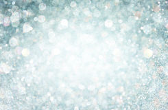 White and grey bokeh lights. defocused background Royalty Free Stock Photo