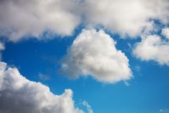 White and grey clouds Royalty Free Stock Image