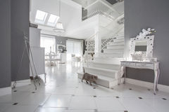 White and grey expensive interior Stock Photography