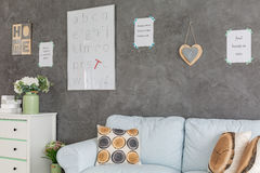 White and grey living room Stock Images