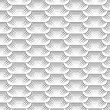 White and grey modern repeating pattern and abstract background. White and grey modern repeating pattern of curved geometric shapes with 3D effect for creative Royalty Free Stock Photo