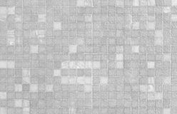 White and grey mosaic tile wall pattern Royalty Free Stock Images