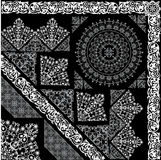 White and grey ornamental elements Stock Images