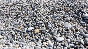 White and grey rounded pebble stones Royalty Free Stock Photography