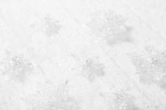 White, grey and silver christmas background with wood, snow and Royalty Free Stock Photos