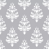White and grey vector pattern. Wallpaper background for invitations, greeting cards, web page. Seamless Stock Illustration