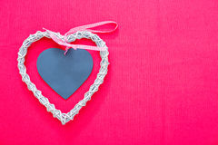 White and grey wicker heart Stock Image