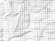 White grid math paper wrinkled texture background. Rough surface pattern of graph paper stock images