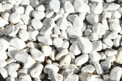 White grit stones. Floor covering Royalty Free Stock Photo