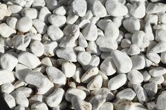 White grit stones. Floor covering Royalty Free Stock Image