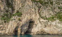 White Grotto of the Capri, Italy Royalty Free Stock Photography