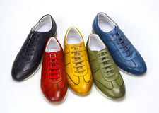 Colored shoes Stock Image