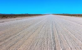 Ground road through the desert royalty free stock images